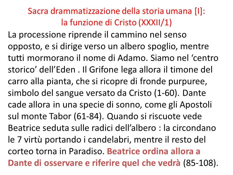 Sacra drammatizzazione della storia umana [I]: la funzione di Cristo (XXXII/1)